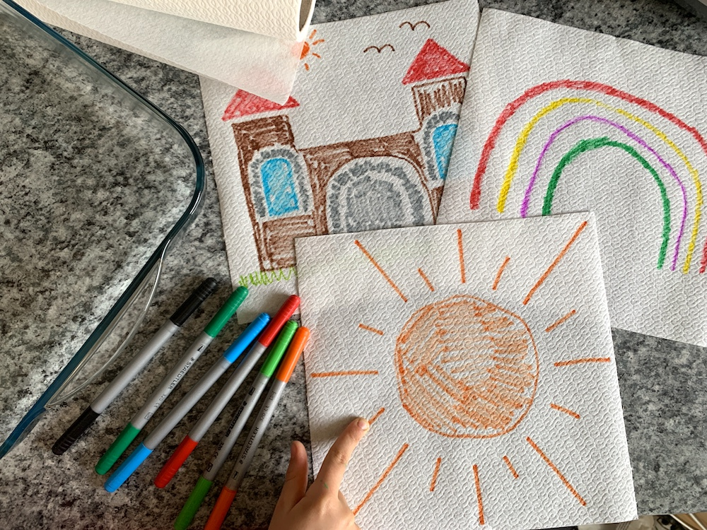 colouring ideas for paper towel art