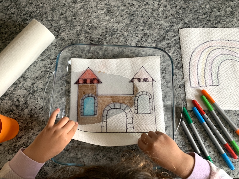 castle picture for paper towel art