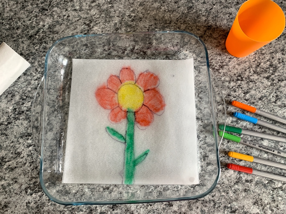 Flower picture idea for paper towel art