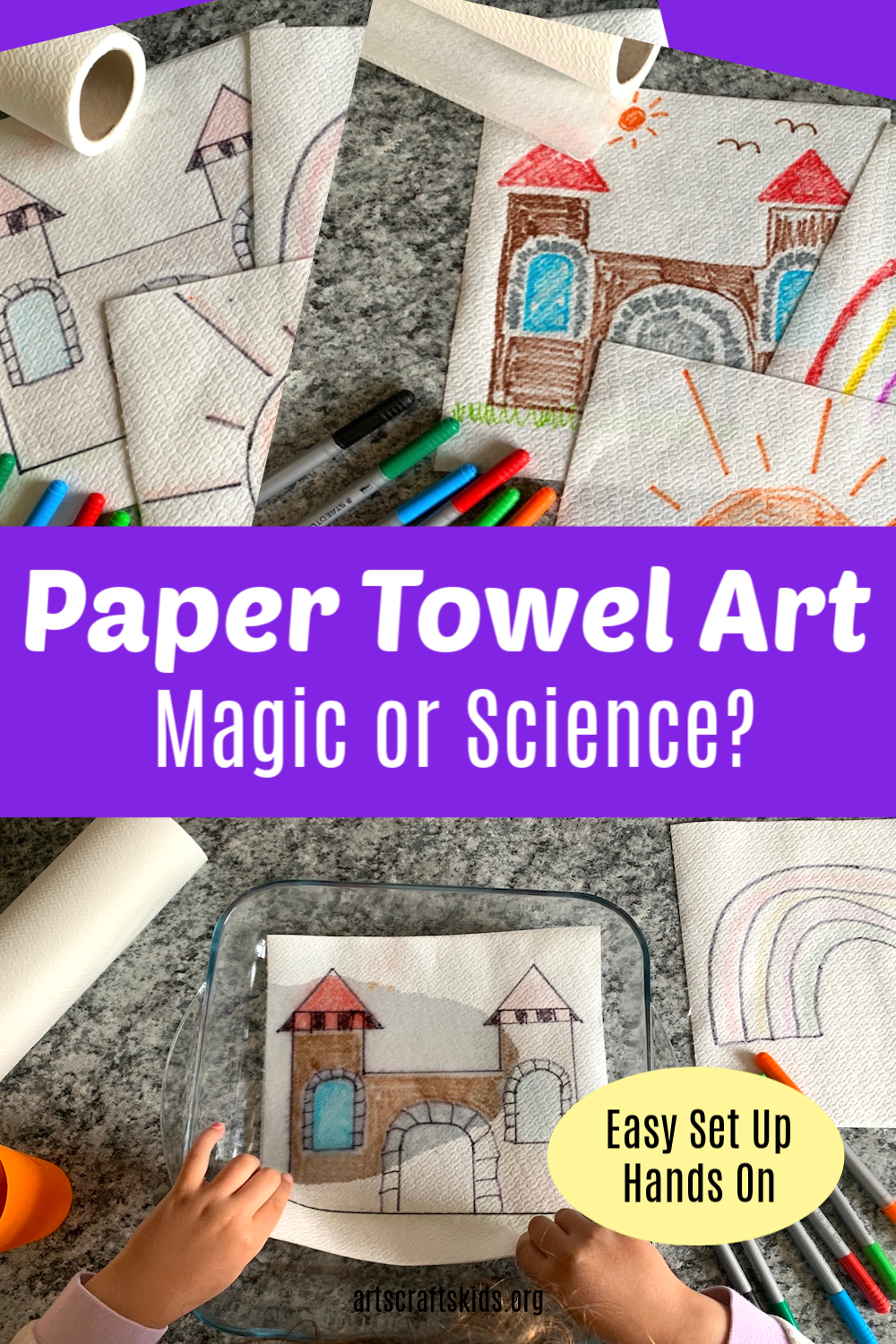 Paper Towel Art - Easy to set up hands on activity for kids