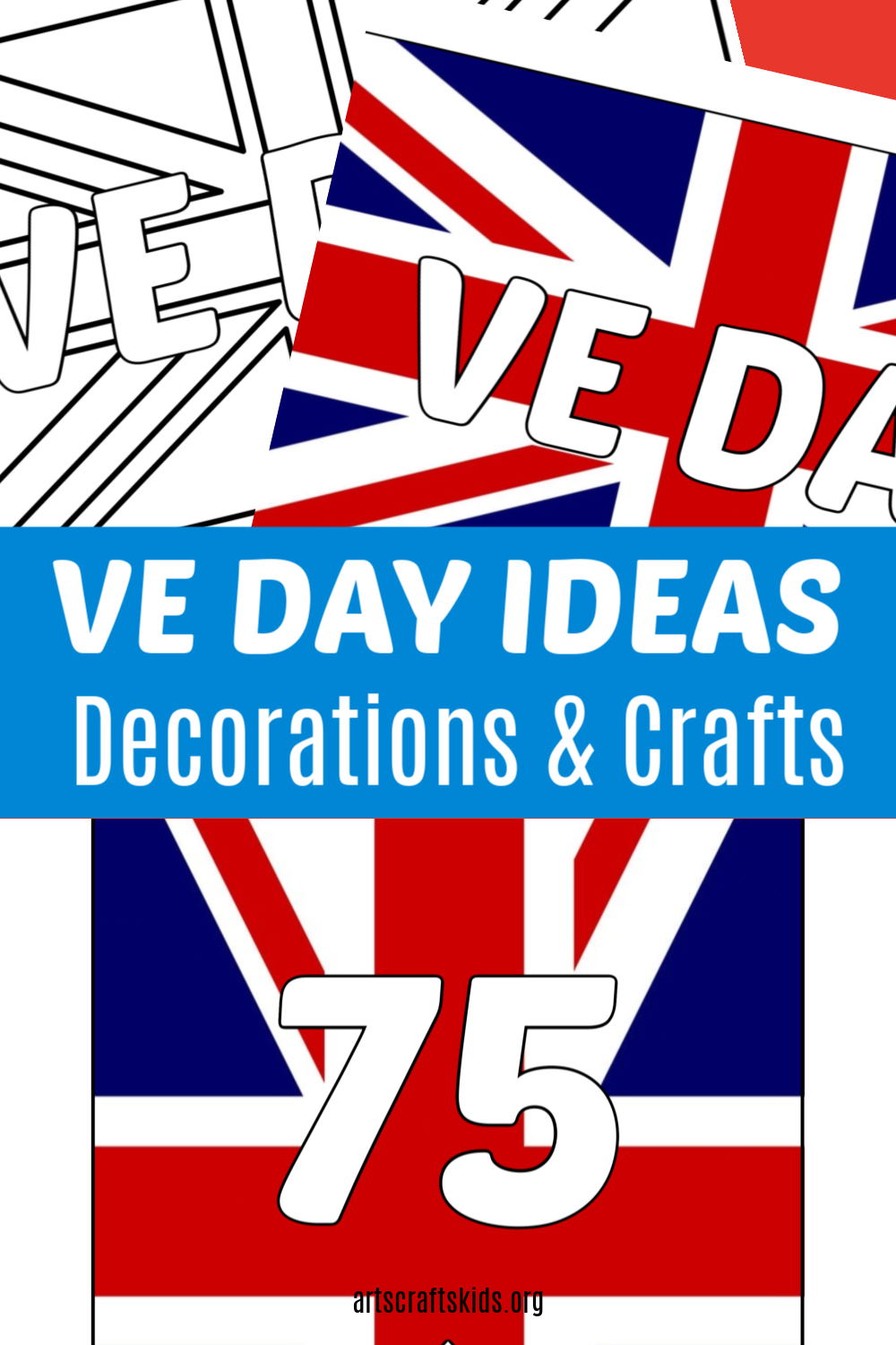VE Day decorations and crafts - free printables and activities included
